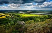 Panoramic landscape from Dobrogea, Romania — Stock Photo