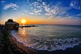 Seascape at sunrise — Stock Photo