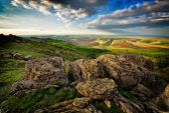 Dağ manzarası içinde dobrogea, romanya — Stok fotoğraf