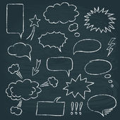 Comics style speech bubbles set — Stok Vektör