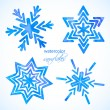 Set of watercolor snowflakes — Stock Vector #53529347