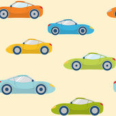 Seamless pattern with sports cars — 图库矢量图片