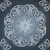 Chalkboard ornament — Stock Vector