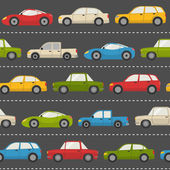 Seamless pattern with cars — Stock Vector
