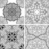 Mustersatz mit Kreis ornament — Stockvektor