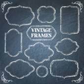 Vintage chalkboard frames set — Stock Vector