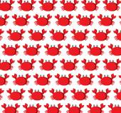 Cute crab pattern.  vector illustration — Stock Vector