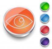 Eye icon - vector. Round Button Collection. — Stock Vector