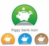Piggy bank - saving money. for website or app — Stock Vector