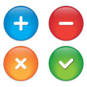 Permission buttons set, vector illustration — Stock Vector