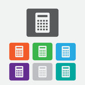 Calculator Icon. Vector icon isolated. Round squares buttons with frame. Vector — Stock Vector