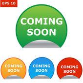 Vector coming soon labels set — Stock Vector