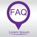 FAQ Blue Vector Icon. icon map pin — Stock Vector #77205125