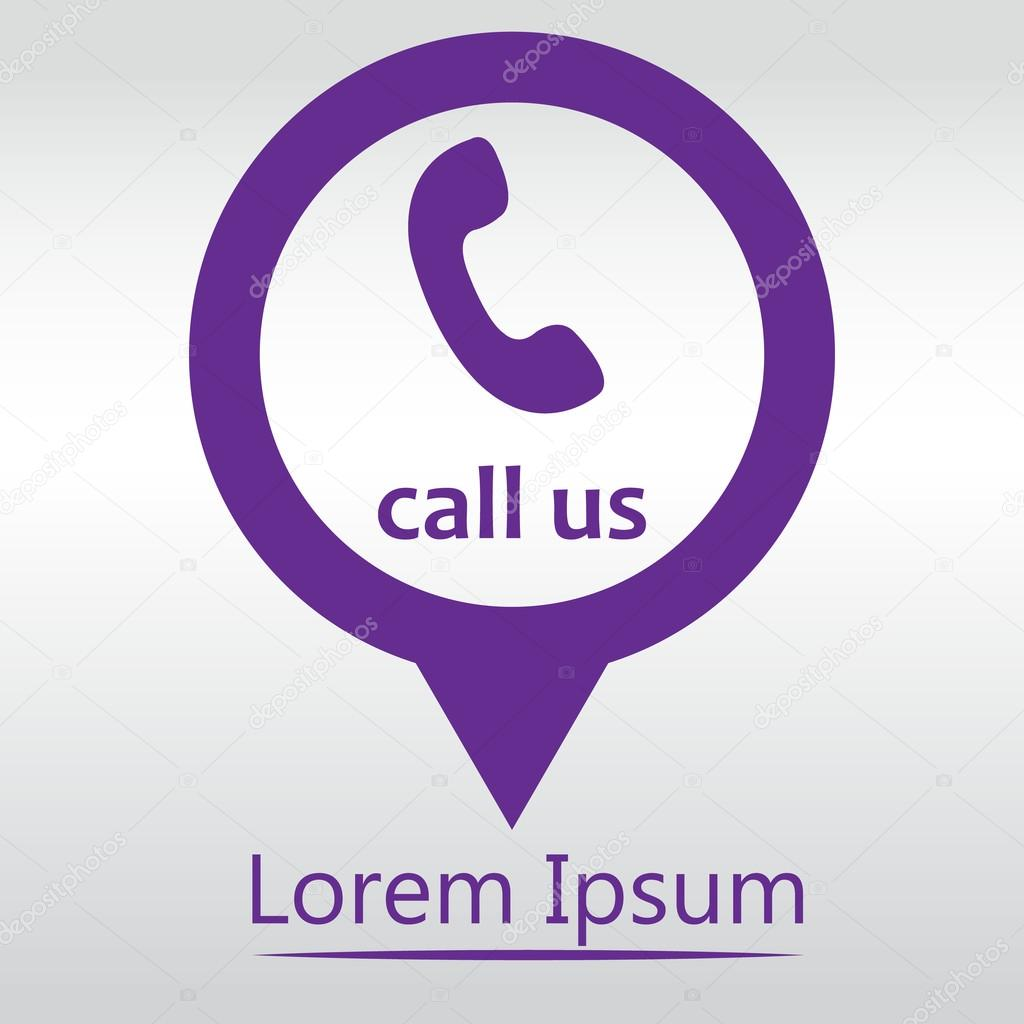 Call Us Icon Phone Sign Icon Map Pin Stock Ilration