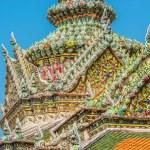 Chedi rooftop detail grand palace bangkok Thailand — Stock Photo #57915461