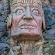 Inca face sculpture in the peruvian Andes — Stock Photo #57915475