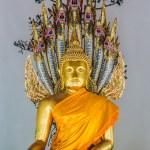 Golden Buddha statue Wat Pho temple bangkok Thailand — Stock Photo #57915565