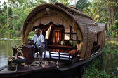 Houseboat Kerala india — Stock Photo