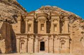 The Monastery in Nabatean city — Stock Photo