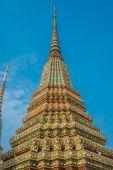Colorful chedi Wat Pho temple bangkok Thailand — Stock Photo