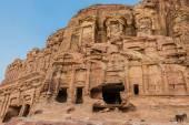 The Corinthian Tomb in Nabatean city of  Petra Jordan — Stock Photo