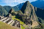 Machu Picchu ruins peruvian Andes  Cuzco Peru — Stock Photo