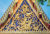 Roof detail Wat Pho temple bangkok Thailand — Stock Photo