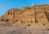 Royal tombs in Nabatean city of  Petra Jordan — Stock Photo