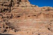 Roman theater arena in Nabatean city of  Petra Jordan — Stock Photo