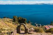 Titicaca Lake from Taquile Island — Stock Photo