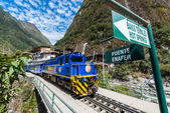 Perurail train peruvian Andes  Cuzco Peru — Foto de Stock