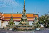 Interior Wat Pho temple bangkok Thailand — Stock Photo