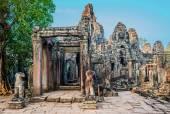 座吴哥巴戎寺 thom 柬埔寨 — 图库照片