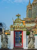 Temple interior Wat Pho temple bangkok Thailand — Stock Photo