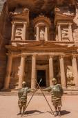 Al Khazneh or The Treasury in Nabatean city of  Petra Jordan — Stock Photo