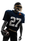Quarterback american football player man portrait — Stock Photo