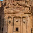 Urn Tomb in Nabatean city of  Petra Jordan — Stock Photo #68334591