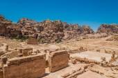 Roman temple in Nabatean city of  Petra Jordan — Stock Photo