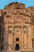 Urn Tomb in Nabatean city of  Petra Jordan — Stock Photo