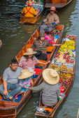 Amphawa bangkok floating market Thailand — Stock Photo