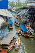 Amphawa bangkok floating market Thailand — Stock Photo