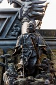 Soldier statue gucheng park shanghai china — Stock Photo