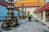 Interior Wat Pho temple bangkok Thailand — Stock Photo