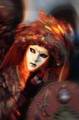 Mask portrait  carnival of venice italy — Stock Photo