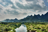 Yulong river Guilin Yangshuo Guangxi  China — Stock Photo