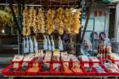 Seafood market Tai O Lantau island Hong Kong — Stock Photo