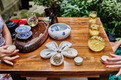 Tea ceremony in Chengdu Sichuan China — Stock Photo