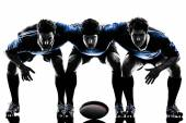 Rugby men players silhouette — Stock Photo