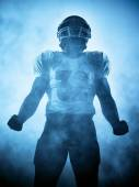 American football player silhouette — Stock Photo
