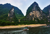 Li river, Guilin Yangshuo Guangxi  China — Stock Photo